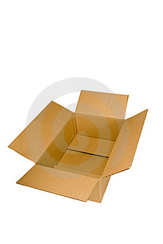 Empty Cardboard Box Stock Photo - Image: 18957200