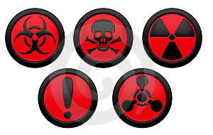 Icons With Symbols Of Hazard. Stock Images - Image: 18959434