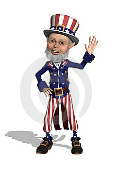 Uncle Sam Waving Royalty Free Stock Images - Image: 18960239
