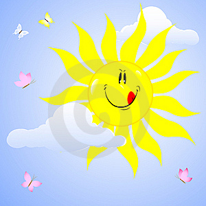 Smiling Sun. Stock Photography - Image: 18960242