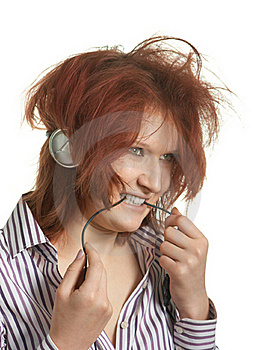 Listens To Music Stock Images - Image: 18961074