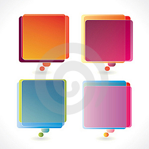 Colorful Rectangular Speech Bubbles Stock Photos - Image: 18961343