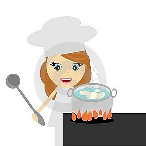 Girl Cook With Potato Stock Photos - Image: 18961923