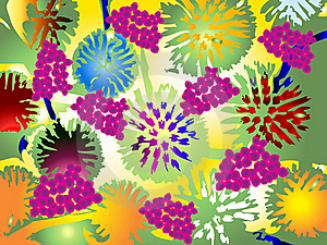 Color Flowers Royalty Free Stock Images - Image: 18961939