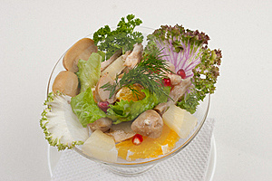 Salad With Fruits And Greens Royalty Free Stock Image - Image: 18962026