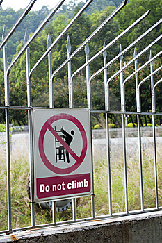 Do Not Climb Royalty Free Stock Photo - Image: 18962045