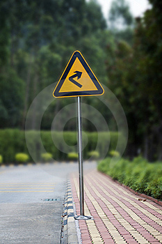 Turn Right Royalty Free Stock Image - Image: 18962076