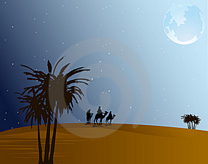 Desert At Night Royalty Free Stock Image - Image: 18962166