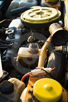 Engine Under The Hood Of A Car Royalty Free Stock Images - Image: 18963229