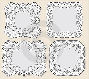 Set Vintage Frames Royalty Free Stock Photography - Image: 18964047
