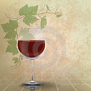 Abstract Grunge Illustration With Wineglass Royalty Free Stock Photo - Image: 18964725