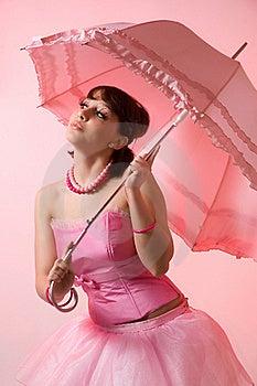 La Muchacha Con Un Paraguas Fotografía de archivo libre de regalías - Imagen: 18964887