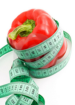Bulgarian Pepper And Centimeter Royalty Free Stock Photos - Image: 18967598