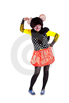 A Girl Dressed As A Mouse Stock Photo - Image: 18969710