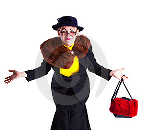 A Girl Dressed As An Elderly Old Lady Stock Images - Image: 18969724