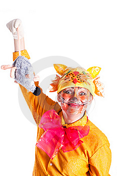 Girl Dressed As A Cat And Mouse Stock Photos - Image: 18969743