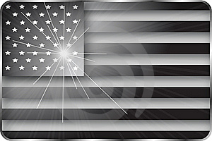 Black And White American Flag Royalty Free Stock Photo - Image: 18969755
