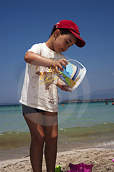Boy Playing On The Beach Royalty Free Stock Photos - Image: 18970228