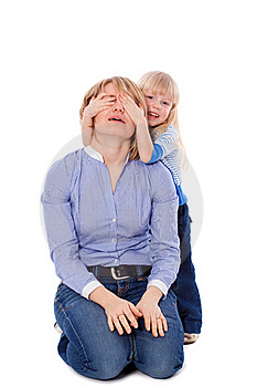Child Close Her Mother Eyes Stock Photography - Image: 18970912