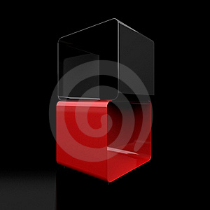 Two 3d Cubes Stock Image - Image: 18970951