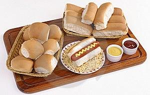 Hot Dog An Bun Baskets Royalty Free Stock Photo - Image: 18971105