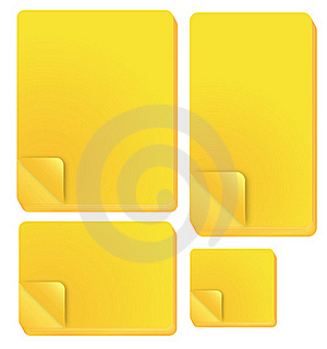 Yellow Note Stick Royalty Free Stock Photos - Image: 18972848