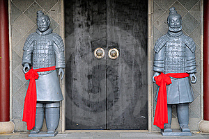 Replica Terracotta Warriors Stock Photo - Image: 18973410