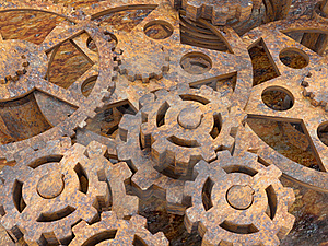 Mechanism Of Gears Rusted Royalty Free Stock Photography - Image: 18975087