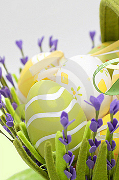 Basket With Colourful Eggs Royalty Free Stock Image - Image: 18975956