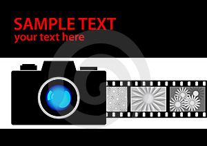 Camera With Film Royalty Free Stock Image - Image: 18977716