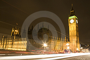 The Houses Of Parliament At Night Stock Photos - Image: 18977793