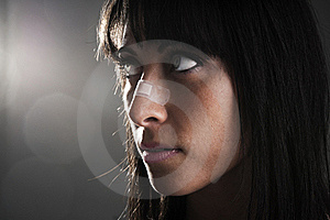 Woman With Bandage On Nose Stock Photography - Image: 18980652