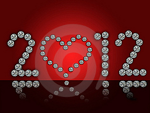 2012 Illustration With Diamonds Stock Images - Image: 18981414