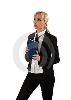 Business Woman Thinking. Stock Photos - Image: 18982573