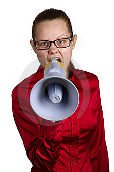 Screaming Woman With Megaphone Royalty Free Stock Image - Image: 18982696