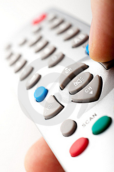 Remote Control In A Hand Royalty Free Stock Image - Image: 18983876