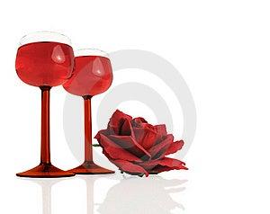 Wine & Rose Stock Photos - Image: 18983953