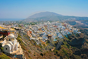 View Of Fira In Santorini Royalty Free Stock Image - Image: 18983986