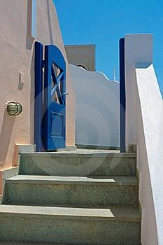 Beautiful Empty Street In Santorini Royalty Free Stock Photos - Image: 18984018