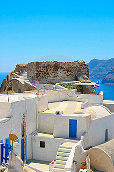 Traditional Architecture In Santorini Royalty Free Stock Image - Image: 18984216