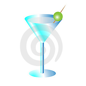 Blue Martini Royalty Free Stock Photos - Image: 18984518