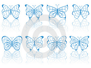Blue Butterflies. Stock Image - Image: 18985541