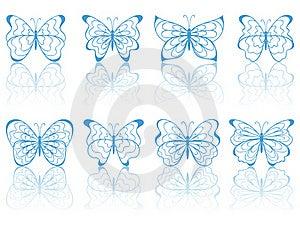 Blue Butterflies. Stock Image - Image: 18985541