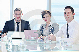 Business People At Meeting Royalty Free Stock Images - Image: 18986189