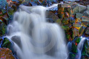 Beautiful Waterfall In Hdr Stock Photos - Image: 18986763