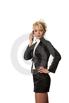 Businesswoman Speak Phone Stock Image - Image: 18990221
