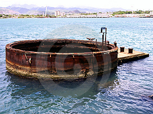 Uss Arizona Wreckage (external) Free Stock Photo