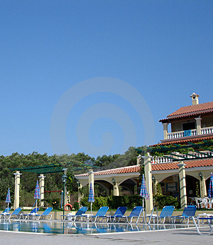 Swimming Pool And Hotel Free Stock Photo