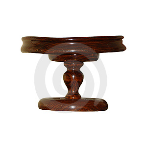 Isolated Wooden Bowl Stock Images