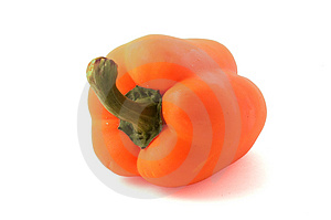 Orange Bell Pepper Royalty Free Stock Photo